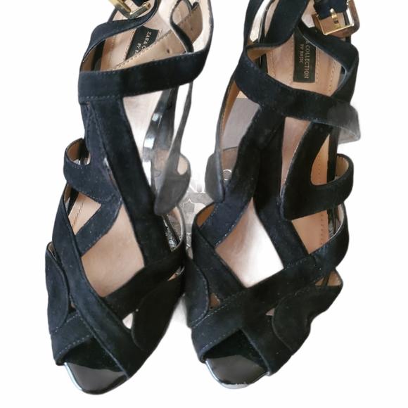 Zara suede platform heels 37